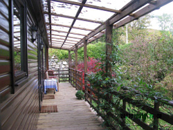 The chalet verandah